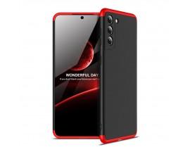 Husa Upzz Protection Compatibila Cu Samsung Galaxy S21, Negru - Rosu
