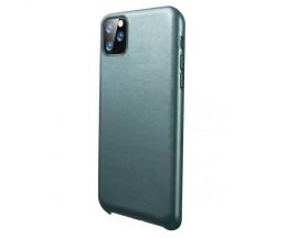 Husa Premium Upzz Eco Leather Compatibila Cu iPhone 11 Pro Max, Piele Ecologica, Verde
