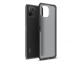 Husa Spate Upzz Hybridshell Compatibila Cu Xiaomi Mi 11 Lite / Mi 11 Lite 5G, Frosted Black