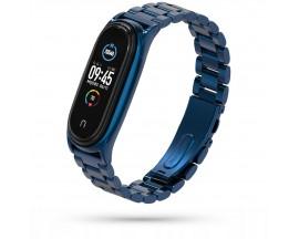 Curea Upzz Tech Stainless Compatibila Cu Xiaomi Mi Smart Band 5 / 6, Navy Blue