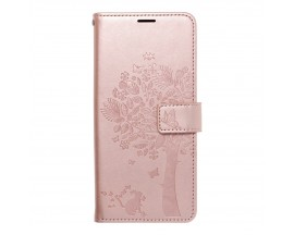 Husa Flip Cover Forcell Mezzo Compatibila Cu Samsung Galaxy A32, Model Tree Rose Gold