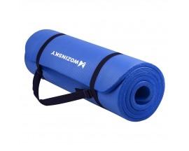 Saltea Fitness Anti Alunecare 181cm X 63cm X 1cm Grosime , Husa De Transport , Albastru