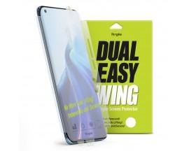 Folie Silicon Premium Ringke Dual Easy  Pentru OnePlus 9 Pro, 2 Bucati In Pachet, Transparenta, Silicon