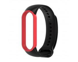 Curea Upzz Tech Iconband Compatibila Cu Xiaomi Mi Smart Band 5 / 6, Silicon, Negru - Rosu