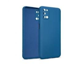 Husa Premium Upzz Soft Silicone Compatibila Cu Oppo A52, Albastru