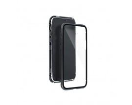 Husa Premium Upzz Magneto Glass 360 Grade Pentru Samsung Galaxy A11 / M11, Rama Metalica, Negru