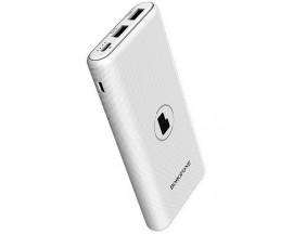 Baterie Externa Borofone  Winner 10.000 mAh, Functie Incarcare Wireless Pentru Telefoane, 2 x Usb, Alb BT31
