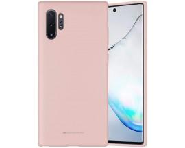 Husa Spate Mercury Goospery Silicone Compatibila Cu Huawei P30 Pro, Interior Alcantara, Pink Sand