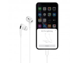 Casti Handsfree Hoco Lightning Compatibile Cu Device Apple, Mufa Lightning, Bluetooth M1 Pro