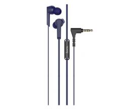 Casti Handsfree Hoco Admire Telecomanda si Microfon Pe Fir, Albastru -M72