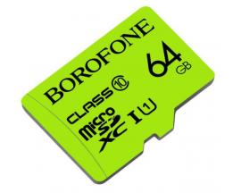 Card Microsd Borofone TF SDHC Clasa 10, Capacitate 64gb