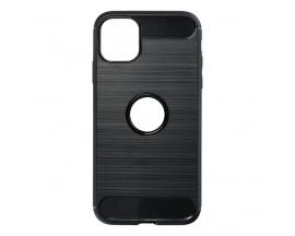 Husa Spate Upzz Carbon Pro Compatibil Cu Iphone 11 Pro, Negru
