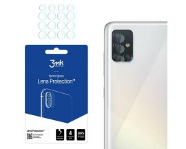Set 4 X Folie Sticla Nano Glass 3mk  Pentru Camera Samsung Galaxy A52 / A52 5G,  Transparenta