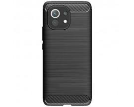 Husa Spate Upzz Carbon Pro Compatibil Cu Xiaomi Mi 11, Silicon Negru