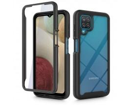 Husa Premium Upzz Tech Defense 360 Compatibila Cu Samsung Galaxy M12, Negru