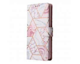 Husa Flip Carte Upzz Tech Wallet  Compatibila Cu Samsung Galaxy S21, Marble