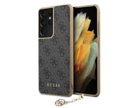 Husa Premium Guess Compatibila Cu Samsung Galaxy S21 Ultra, Colectia Charms, Gri - 503249