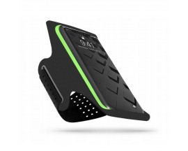Husa Alergare Upzz Tech Protectsport Armband Pentru Telefoane Pana La 6,5 Inch, Negru Lime