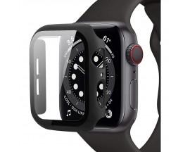 Husa Protectie Ceas Upzz Tech Defense 360 Grade Compatibila Cu Apple Watch 4 / 5 / 6 / Se ( 44mm ), Negru