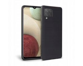 Husa Spate Upzz Tech Silicone Compatibila Cu Samsung Galaxy M12, Interior Alcantara, Negru