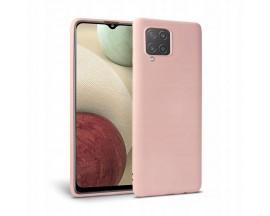 Husa Spate Upzz Tech Silicone Compatibila Cu Samsung Galaxy M12, Interior Alcantara, Roz