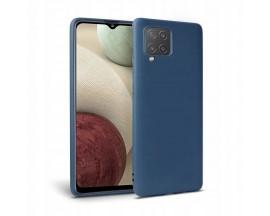 Husa Spate Upzz Tech Silicone Compatibila Cu Samsung Galaxy M12, Interior Alcantara, Navy Blue