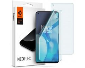 Folie Silicon Premium Neo Flex Spigen Pentru OnePlus 9 Pro, Transparenta Case Friendly 2 Bucati In Pachet