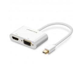 Adaptor Ugreen Hdmi / Vga La Mini DisplayPort 4K@30 Hz Full Hd 1080p Alb - 814275