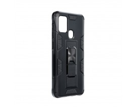 Husa Premium Upzz Defender Antishock Compatibila Cu Samsung Galaxy A52 4G / A52 5G, Negru -stand Magnetic Pe Spate
