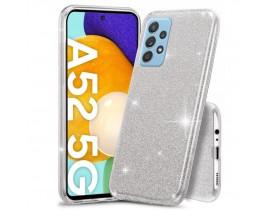Husa Spate Upzz Shiny Compatibila Cu Samsung Galaxy A52 4G / A52 5G, Silver