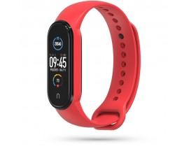 Curea Upzz Tech Iconband  Compatibila Cu Xiaomi Mi Smart Band 5 / 6, Silicon,  Rosu