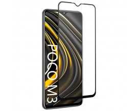Folie Full Glue Upzz Pro Glass Compatibila Cu Xiaomi Poco M3, Transparenta Cu Margine Neagra