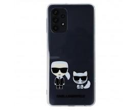 Husa Premium Karl Lagerfeld Compatibila Cu Samsung Galaxy A32 5G, Transparenta