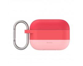 Husa Carcasa Baseus Silicon Gel Pentru Apple Airpods Pro Roz