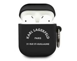 Husa Protectie Karl Lagerfeld Pentru Airpods 1/2 , Negru Rsg - 500743