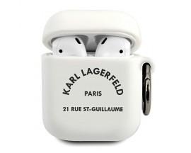 Husa Protectie Karl Lagerfeld Pentru Airpods 1/2 , Alb Rsg - 500767