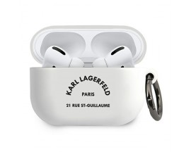 Husa Protectie Karl Lagerfeld Pentru Airpods Pro, Alb Rsg - 500774