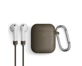 Husa Pentru Casti Uniq Compatibila Cu Apple Airpods 1 / 2, Gri