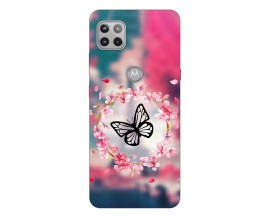 Husa Silicon Soft Upzz Print Compatibila Cu Motorola Moto G 5G Model Butterfly