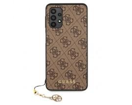 Husa Premium Guess Charms Collection Compatibila Cu Samsung Galaxy A32 4g, Maro