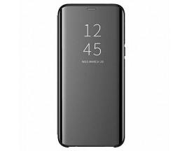 Husa Tip Carte S View Mirror Compatibila Cu Samsung Galaxy A02s, Negru
