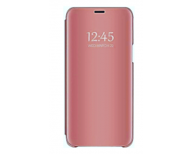 Husa Tip Carte S View Mirror Compatibila Cu Samsung Galaxy A02s, rOZ