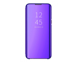 Husa Tip Carte S View Mirror Compatibila Cu Samsung Galaxy A02s, Mov