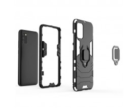 Husa Spate Upzz Ring Armor Hybrid Pentru Samsung Galaxy A02s , Negru