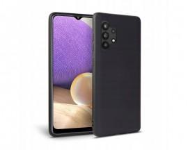 Husa Upzz Liquid Silicon Pentru Samsung Galaxy A32 5g, Cu Invelis Alcantara La Interior , Negru