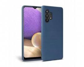 Husa Upzz Liquid Silicon Compatibila Cu Samsung Galaxy A32 5g, Cu Invelis Alcantara La Interior , Albastru