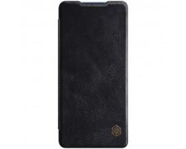 Husa Flip Cover Book Premium Nillkin Qin Compatibila Cu Samsung Galaxy S20 FE, Negru, Piele Ecologica
