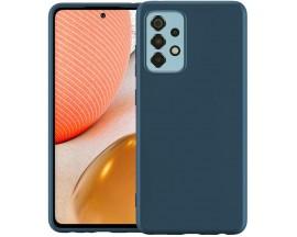 Husa Spate Forcell Cu Interior Alcantara Compatibila Cu Samsung A72 / A72 5g, Dark Blue