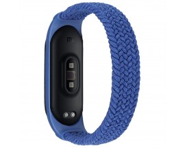 Curea Upzz Tech Loop Compatibila Cu  Xiaomi Mi Smart Band 5 / 6, Albastru