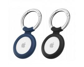 Set 2 x Husa Esr Cloud  Compatibila Apple Airtag, Albastru Si Negru
